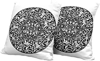 All of better Chaise Lounge Cushion Cover Gothic Decor,Renaissance Pattern Victorian Antique Mystical Gothic Medieval Symbols Cushion Cover 24x24 INCH 2pcs