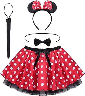 Nœud Oreilles bandeau rouge à pois jupe robe fantaisie Filles Minnie Mouse Tutu