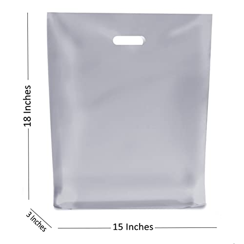 2a65887b79c3 30 LARGE CLEAR PLASTIC BAGS ~ BOUTIQUE GIFT SHOP CARRIER BAG ~ 38x46x8 cm