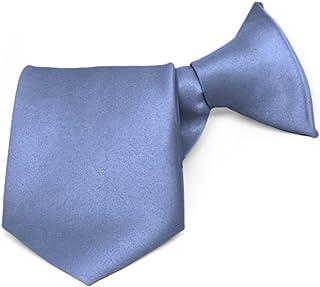 """TieMart Boys' Periwinkle Solid Color Clip-On Tie, 8"""" Length"""