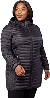 32 DEGREES Womens Plus-Size Ultra-Light Down Long Packable Jacket