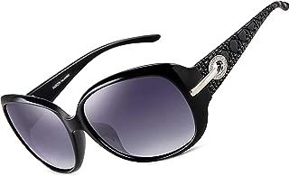 Women Polarized UV400 Sunglasses Fashion Plaid Oversized Sunglasses