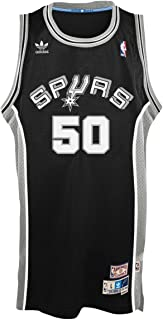 adidas David Robinson San Antonio Spurs Black Throwback Swingman Jersey