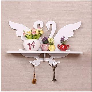 Dxbqm Racks d'organisateur de Stockage, décoration de décoration de Maison idyllique décoration Murale sur Le Mur en Bois ...