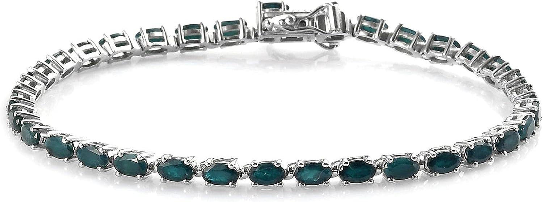 Shop LC Over item handling ☆ 925 Sterling Silver Platin Grandidierite Bracelet Tennis Limited price sale