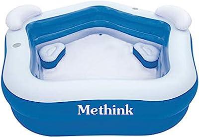 "Methink Family Inflatable Lounge Pool 7' x 6'9"" x 27"""