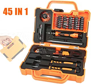 AIRAJ Precision Screwdriver Set Repair Maintenanc 45 in 1 with 30 Magnetic Driver Bits Professional Repair Tool Kit Multifunction Screwdriver Tool Set for Cellphone, iPhone 7, Laptop Pad, Game Console