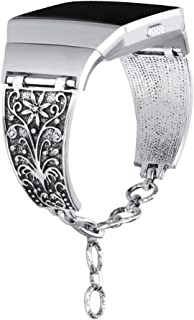 """somoder for Fitbit Ionic Bands, Vintage Chain Jewelry Bracelet with Rhinestone Bling for Fitbit Ionic Smartwatch, Adjustable 5.5"""" - 8.1"""""""