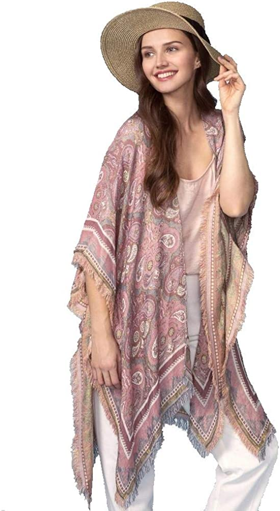 Do 人気の定番 Everything In Love Brand Women's Fringe wi Paisley Print with 今だけスーパーセール限定