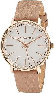 Michael Kors Pyper Women's White Dial Leather Analog Watch - MK2748