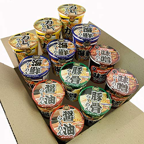DREAM KITCHEN CUP RAMEN ASSORTED BOX 2.47 Ounce (Pack of 12) (Assorted)