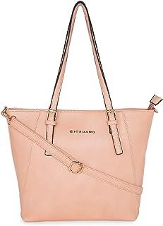 Giordano Women's Tote Handbag Pink - GD0036LTPK