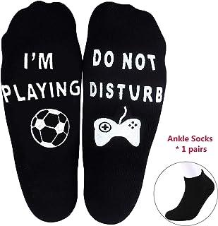 5f815e7c5dd1 Do Not Disturb I'm Gaming Socks Men Women Novelty Crew Ankle Socks Game  Lover