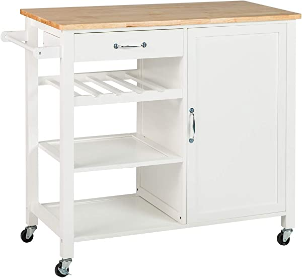 BuyHive Kitchen Island Cart Dining Serving Trolley Utility Cabinet Dish Rack