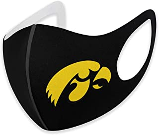 Reusable Fashion Iowa Hawkeyes Face Mask,Stylish Washable Unisex Face Shield, Breathable Mouth Masks for Cycling Camping Travel for Adult Men Women Black