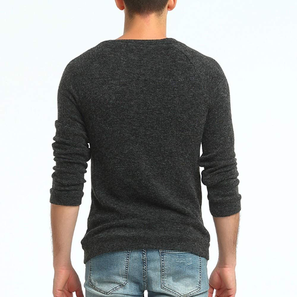 MODOQO Men's Crew Collar Sweaters Long Sleeve Warm Soft Knitwear Pullover Sweatshirt