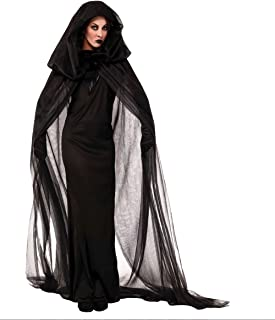 Women's Scary Devil Ghost Witch Cosplay Halloween Costume Long Dress Robe (Medium)