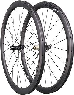 ICAN Carbon Wheels AERO 40 Disc Road Bike Wheelset 40mm Clincher Tubeless Ready Disc Brake 12x100/12x142mm Only 1355g