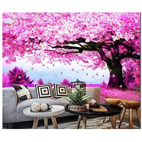 Fotobehang op het bestellen van grote bomen, 3D-wandbehang uit de natuur voor de decoratie van de ondergrond 350x245cm