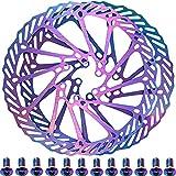 YBEKI Disco de Freno Bicicleta 160mm 180mm color Rotores para Bicicletas con 12 Pernos para Picicleta de Carretera Bicicleta de Montaña Bicicleta Disco de Freno
