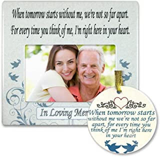 BANBERRY DESIGNS in Loving Memory Gift Pack - Memorial Frame and Christmas Ornament Set - When Tomorrow Starts Without Me - Remembrance Gift