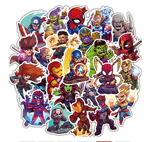 votgl 52 Stks Cartoon Leuke Super Hero Stickers voor MARVEL Decals om DIY Laptop Gitaar Bagage Fiets Graffiti Waterdichte JDM Sticker