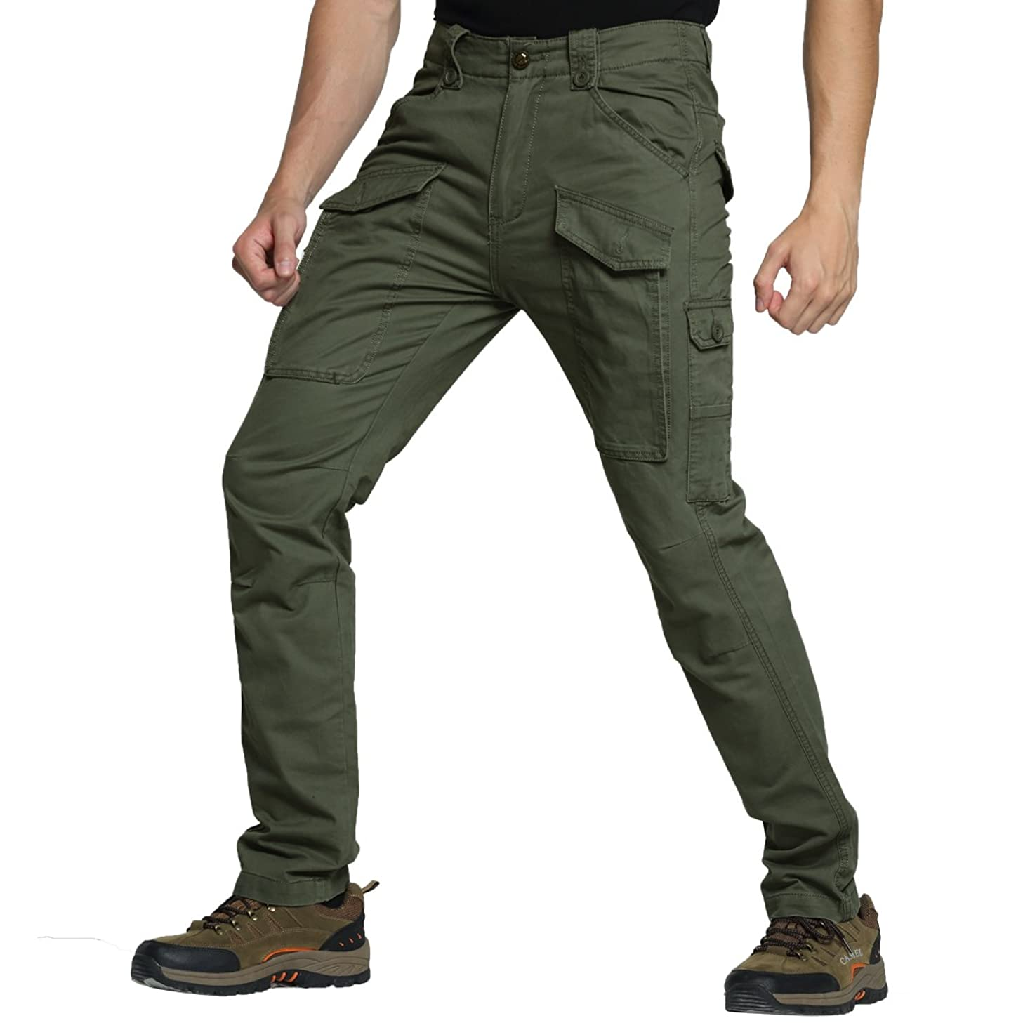 Men's Cargo Relaxed Fit Pants Tactical Combat Army Trousers Work Military