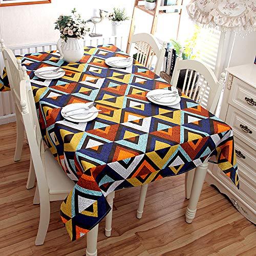 nobranded Moderne minimalistische Baumwolltischdecke Dicke Leinwand Geometrische V-förmige Drucktischdecke Abdeckung Handtuch, mehrere Größen