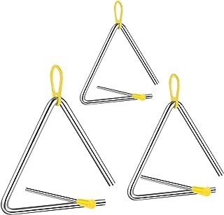 Triangulo Percusion Instrumentos Musicales,triangulo musical,triangulo musical infantil,Triángulo Musical con Batidor,Inst...