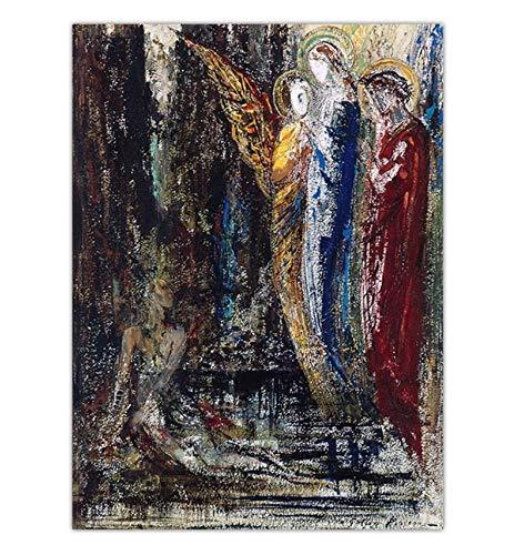 Dekoration Druck Leinwand Drucke Kunst Wandbilder für Wohnzimmer Poster Symbolismus Malerei C, 16x20 zoll (40x50 cm)