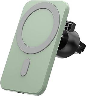 Lämplig för iphone12 för magsafe bil 15W magnetisk trådlös laddare, två typer av baser med stark magnetisk attraktion för ...