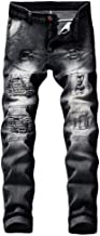Fashion Jeans 966 Londony ♥‿♥ Men's Destroyed Taped Skinny Winter Slim Fit Thicken Warm Stretch Jeans