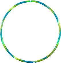 alldoro 63014 Hoop Fun Hoopbanden met 9 LED's, Hula banden voor sport, fitness en gymnastiek, sportbanden met licht, voor ...