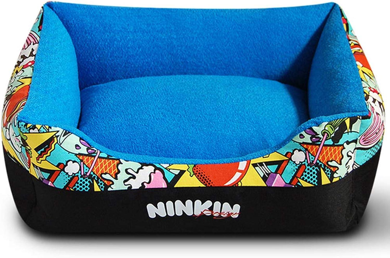 Hulinlian Pet Bed, Creative Pet Sleeping Nest, Small Medium Large Warm Pet Mat Comfortable Durable Cats Dogs Four Seasons Universal,royalbluee,S