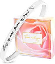 FJ FREDERICK JAMES Sister Gifts from Sister Bracelet - Always My Sister, Forever My Friend – Perfect Sister Birthday idea | Bangle | Jewelry