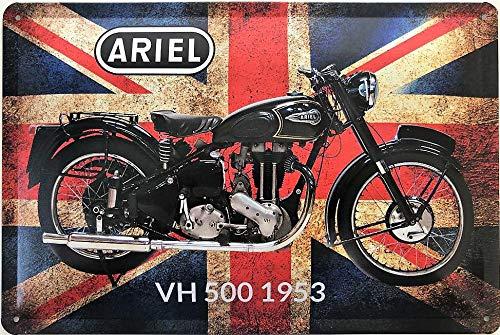 Deko7 metalen bord 30 x 20 cm motorfiets Ariel VH 500 1953