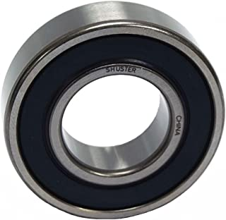 Shuster 6204 3/4 2RS Deep Groove Ball Bearing, Single Row, Double Sealed, Normal Clearance, ABEC 1 Precision, 47 mm Height, 14 mm Width, 47 mm Length, 19.05 mm ID, High Carbon Chrome Bearing Steel