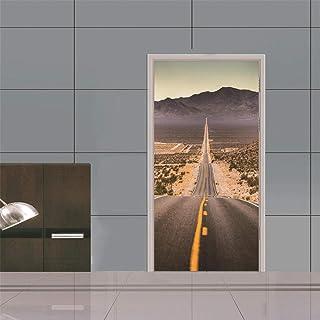 Sticker Porte Autocollants 3D Décoratifs De Porte D'Autoroute Du Désert Autocollants Muraux Muraux Amovibles Autocollants ...