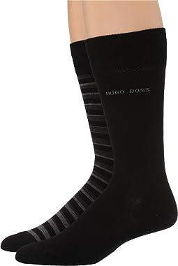 2-Pack Stripe Cotton Socks