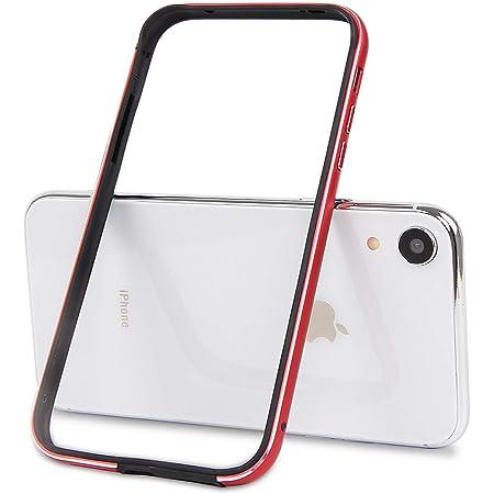 Imikoko iPhone XR バンパー ケース 軽量TPU素材 おしゃれ かわいい 衝撃吸収 二重構造 アイフォンXR アルミバンパー (レッド)