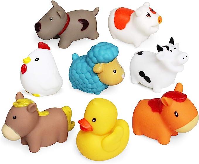 442 opinioni per Giocattolo da bagno(8PCS),Giocattoli da bagno galleggianti con cani da fattoria,