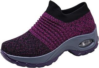 Scarpe da Ginnastica Donna Corsa Sportive Fitness Running Mesh Calzino Sneakers Basse Interior Casual All'Aperto Gym Altez...