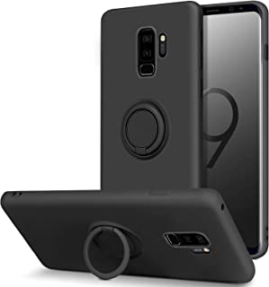 BENTOBEN Samsung Galaxy S9 Plus Case, Slim Silicone Soft Rubber with 360° Ring Holder Kickstand Car Mount Supported Protec...