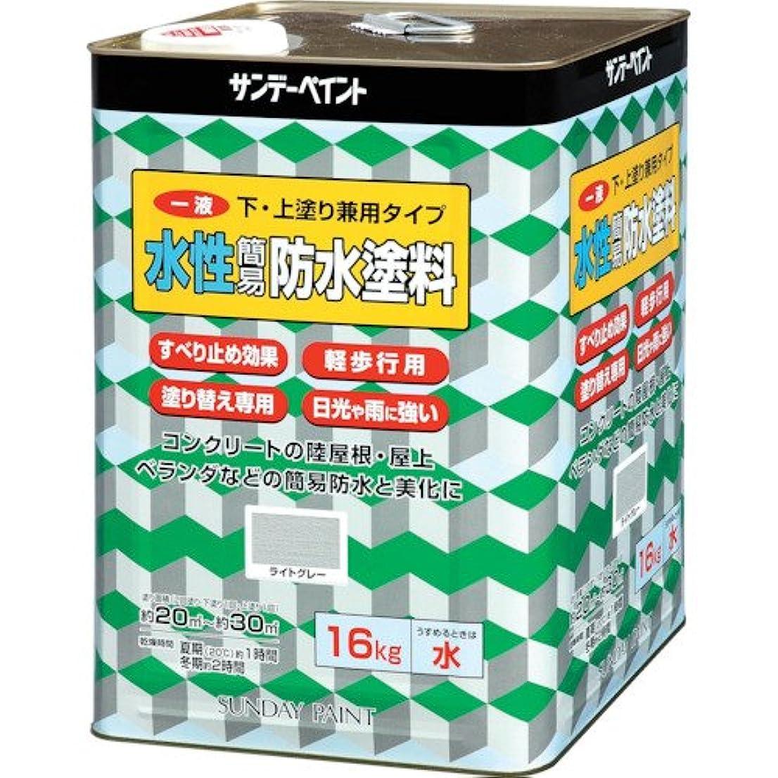 製品ラッチ一流サンデーペイント SP一液水性簡易防水塗料 グリーン 16kg