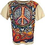 GURU-SHOP, Maglietta Specchio, Peace/Beige, Cotone, Dimensione Indumenti:M, Certo Che Le Magliette