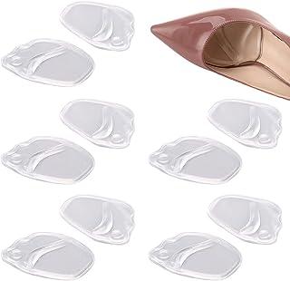 otutun Lot de 5 paires de Coussinets Antidérapants en Gel de Silicone pour l'avant Pied,Semelles Gel Coussinet Avant, Poig...