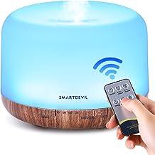 SmartDevil 500ml Essential Oil Diffuser, Ultrasonic Aromatherapy Diffuser Fragrant Oil Humidifier Vaporizer with Remote Co...