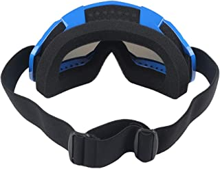 eyewear Brand Hign Quality A Pair Goggles Eyewear Lens Motocross Racing ATV Dirt Bike Motorcycle Off-Road (Blue)