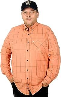 Mode XlBattal Beden Erkek Gömlek Ekose Ukol Tek Cep Kapaksız 05