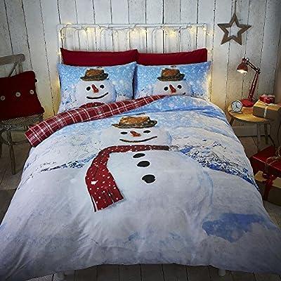 Snowman Single Duvet Cover Set Reversible